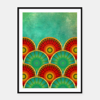 Thumbnail image of Fancy Mandala Pattern  Framed poster, Live Heroes