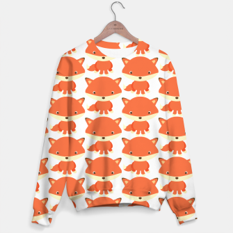Thumbnail image of cute fox pattern Sweater, Live Heroes