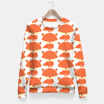 Thumbnail image of cute fox pattern Fitted Waist Sweater, Live Heroes