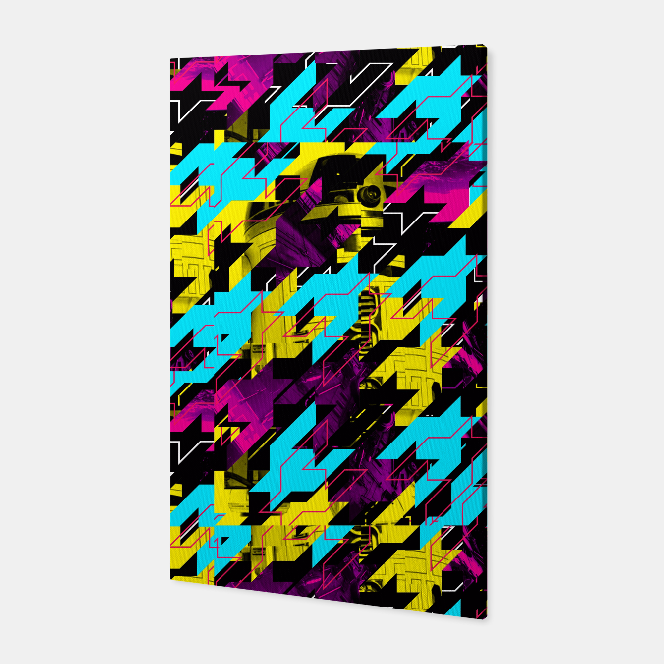 Image of HOUNDSTOOTH GEEK Canvas - Live Heroes