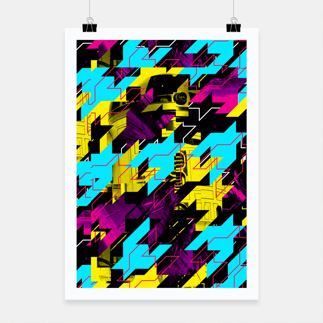 Image of HOUNDSTOOTH GEEK Poster - Live Heroes
