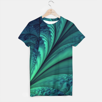Miniaturka Abstract Blue Green Feathers Art T-shirt, Live Heroes
