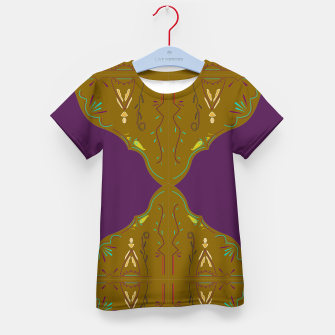 Thumbnail image of Kids t-shirt with Mandala brown purple, Live Heroes