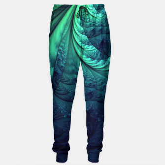Miniaturka Abstract Blue Green Feathers Art Sweatpants, Live Heroes