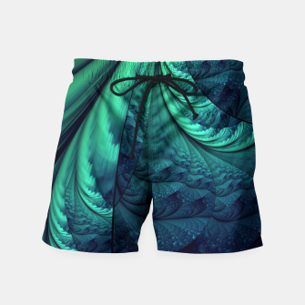 Miniaturka Abstract Blue Green Feathers Art Swim Shorts, Live Heroes