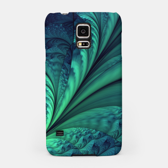 Miniaturka Abstract Blue Green Feathers Art Samsung Case, Live Heroes