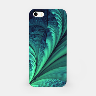 Miniaturka Abstract Blue Green Feathers Art iPhone Case, Live Heroes