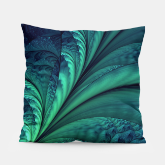 Miniaturka Abstract Blue Green Feathers Art Pillow, Live Heroes
