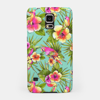 Thumbnail image of Parrots with flowers Samsung Case, Live Heroes