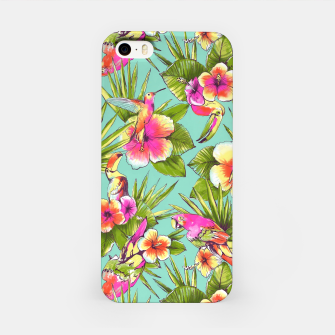 Thumbnail image of Parrots with flowers iPhone Case, Live Heroes