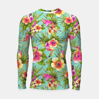 Thumbnail image of Parrots with flowers Longsleeve Rashguard , Live Heroes