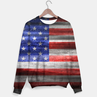 Thumbnail image of American Grunge Flag Sweater, Live Heroes