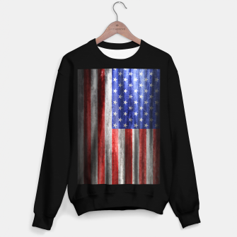 Thumbnail image of American Grunge Flag Sweater regular, Live Heroes