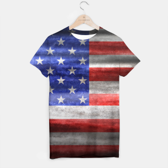 Thumbnail image of American Grunge Flag T-shirt, Live Heroes