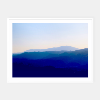 Thumbnail image of Sunset in Rhodes Shades of Indigo Plakaty w ramie , Live Heroes