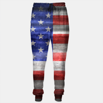 Thumbnail image of American Grunge Flag Sweatpants, Live Heroes