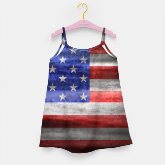 Thumbnail image of American Grunge Flag Girl's Dress, Live Heroes