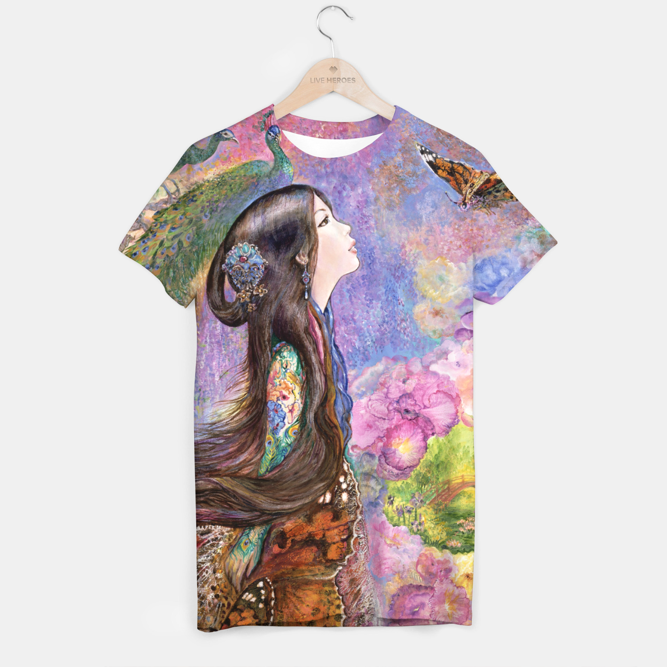 Image of Painted Lady T-shirt - Live Heroes