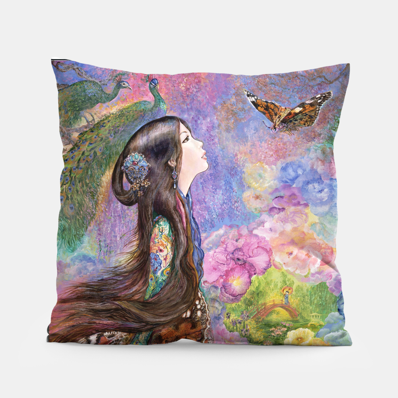 Image of Painted Lady Pillow - Live Heroes