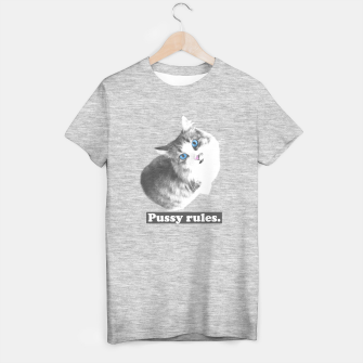 Thumbnail image of Pussy rules T-shirt regular, Live Heroes