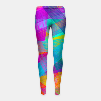 Miniature de image de Abstrakt N1 Girl's Leggings, Live Heroes