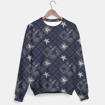Miniaturka Starry abstract navy pattern Sweater, Live Heroes