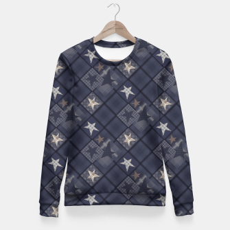 Miniaturka Starry abstract navy pattern Fitted Waist Sweater, Live Heroes