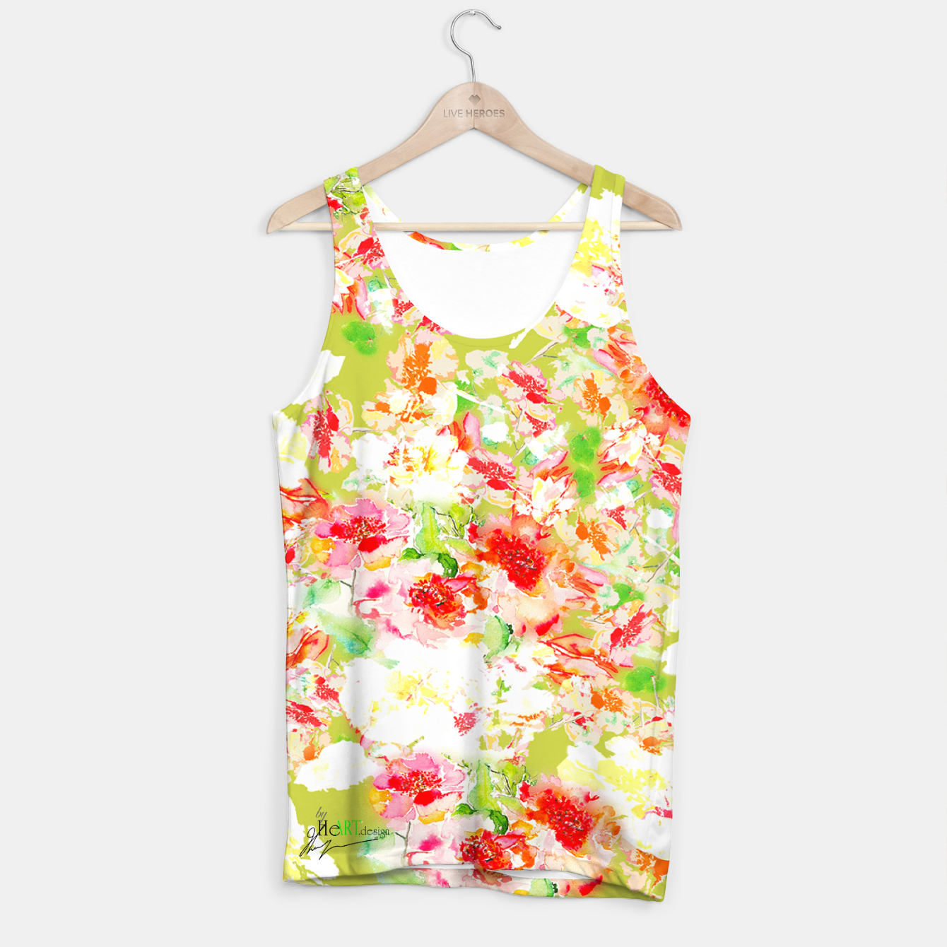 Image of Passionsflower Tank Top - Live Heroes