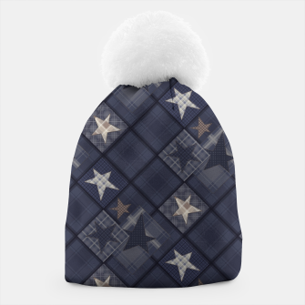 Miniaturka Starry abstract navy pattern Beanie, Live Heroes