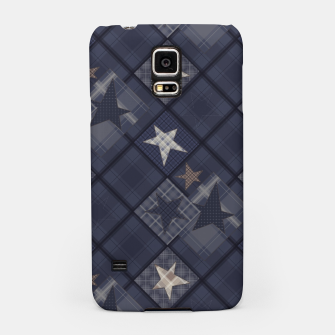 Miniaturka Starry abstract navy pattern Samsung Case, Live Heroes
