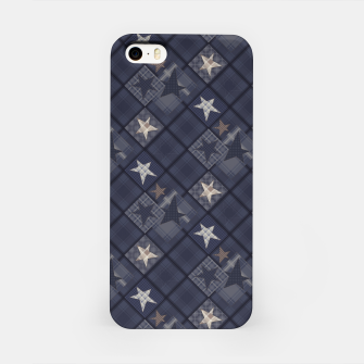 Miniaturka Starry abstract navy pattern iPhone Case, Live Heroes