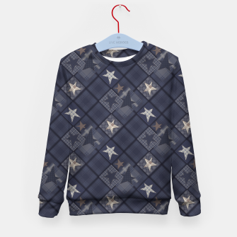 Miniaturka Starry abstract navy pattern Kid's Sweater, Live Heroes