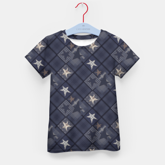 Miniaturka Starry abstract navy pattern Kid's T-shirt, Live Heroes