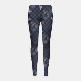 Miniaturka Starry abstract navy pattern Girl's Leggings, Live Heroes