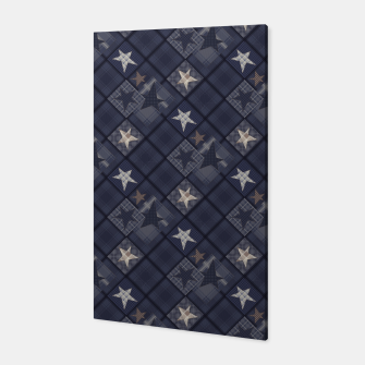 Miniaturka Starry abstract navy pattern Canvas, Live Heroes