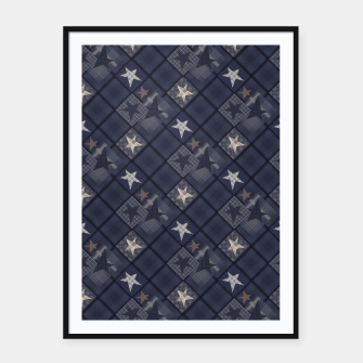 Miniaturka Starry abstract navy pattern Framed poster, Live Heroes