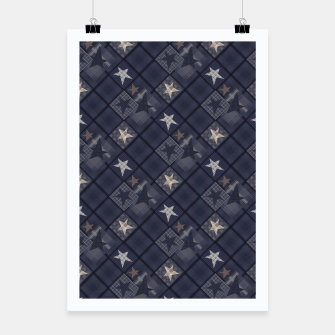 Miniaturka Starry abstract navy pattern Poster, Live Heroes