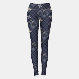 Miniaturka Starry abstract navy pattern Leggings, Live Heroes