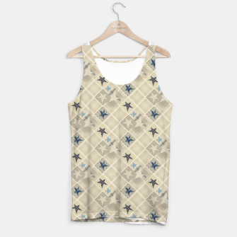 Miniaturka Abstract beige stars print Tank Top, Live Heroes