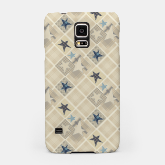 Miniaturka Abstract beige stars print Samsung Case, Live Heroes