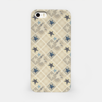 Abstract beige stars print iPhone Case obraz miniatury