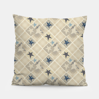 Miniaturka Abstract beige stars print Pillow, Live Heroes