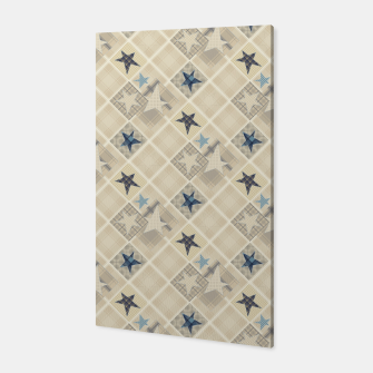 Miniaturka Abstract beige stars print Canvas, Live Heroes