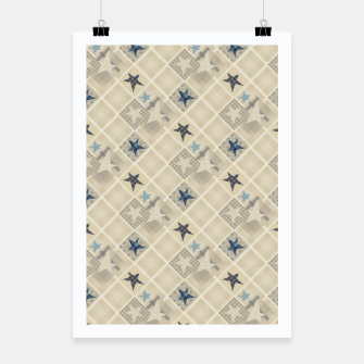 Miniaturka Abstract beige stars print Poster, Live Heroes