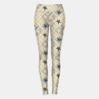 Miniaturka Abstract beige stars print Leggings, Live Heroes