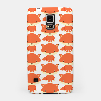 Thumbnail image of cute fox pattern Samsung Case, Live Heroes