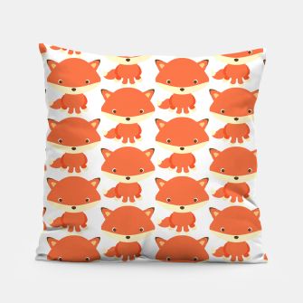 Thumbnail image of cute fox pattern Pillow, Live Heroes