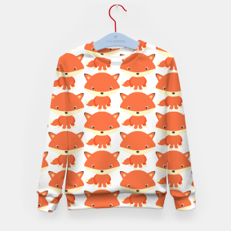 Thumbnail image of cute fox pattern Kid's Sweater, Live Heroes