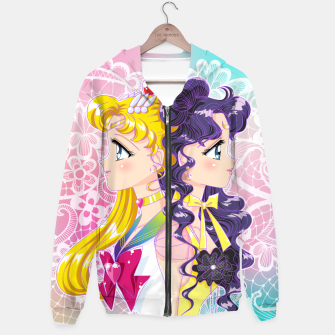 Thumbnail image of Sailor Moon & Luna Hoodie, Live Heroes