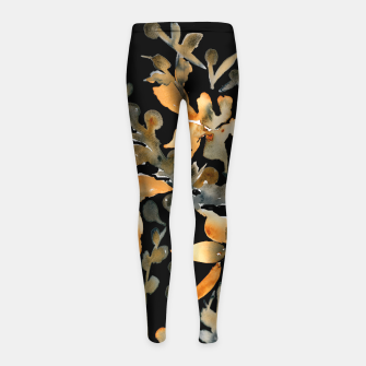 Thumbnail image of Anna's Fire Lily Girl's Leggings, Live Heroes